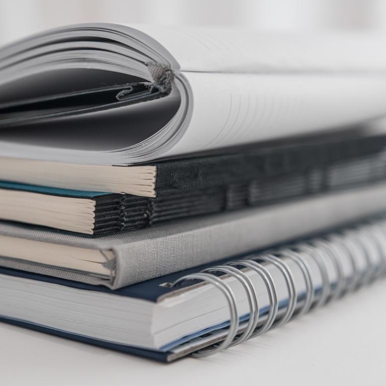 Επιλογή είδους βιβλιοδεσίας ημερολογίων και σημειωματαρίων