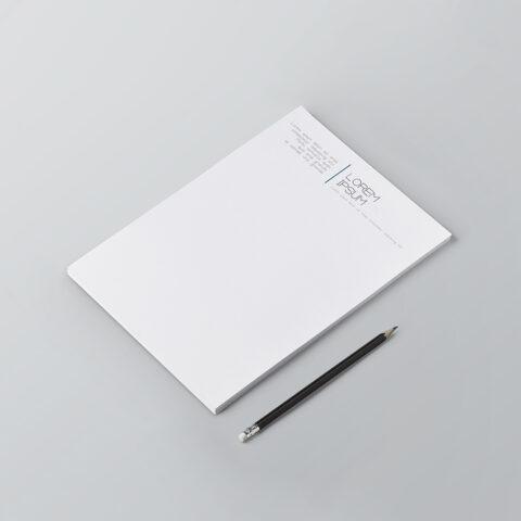 Εκτύπωση επιστολόχαρτου offset 4χρωμη ή σε συνδυασμό με pantone χρώματα ή ψηφιακή εκτύπωση offset σε χαρτί γραφής ή σε ειδικό χαρτί κατόπιν παραγγελίας.