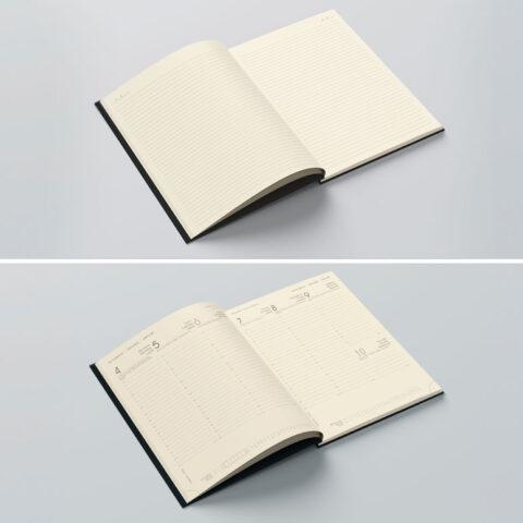 Δυνατότητα επιλογής είδους βιβλίου ανάμεσα σε ημερολόγιο ή σημειωματάριο αλλά και σε πολλούς ακόμα εναλλακτικούς σχεδιασμούς είτε σε λευκό είτε σε υποκίτρινο (ivory) χαρτί.