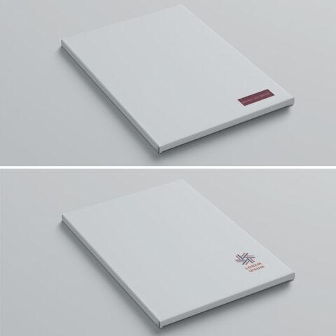 Κουτάκι συσκευασίας δώρου με δυνατότητα εκτύπωσης λογοτύπου και εγκοπής παραθύρου για προβολή ονόματος προσωποποιημένου βιβλίου.