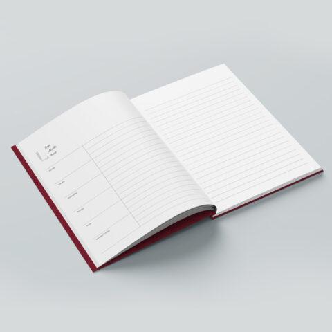 Δυνατότητα έκδοσης (εκτύπωση offset και βιβλιοδεσία) ημερολογίων ή σημειωματάριων με ειδικό σχεδιασμό βάσει των προδιαγραφών του πελάτη και πλήρως προσαρμοσμένων στην οπτική εταιρική του ταυτότητα.