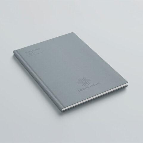 Εκτύπωση λογοτύπου στο εξώφυλλο ή οπισθόφυλλο του βιβλίου με την μέθοδο της θερμοτυπίας, η οποία προσομοιάζει με αυτήν της πυρογραφίας αλλά εφαρμόζεται με χαμηλότερη θερμοκρασία και προσδίδει ένα διακριτικό αποτέλεσμα.