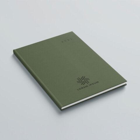 Εκτύπωση λογοτύπου στο εξώφυλλο ή οπισθόφυλλο  του βιβλίου με την μέθοδο της πυρογραφίας ή βαθυτυπίας, στην οποία μέσω της πολύ υψηλής θερμοκρασίας γίνεται εσώγλυφη η αποτύπωση του λογοτύπου και επιτυγχάνεται ένα κομψό και υψηλής ποιότητας αποτέλεσμα.
