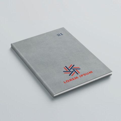 Έγχρωμη εκτύπωση λογοτύπου στο εξώφυλλο ή οπισθόφυλλο του βιβλίου με την μέθοδο της ψηφιακής μεταξοτυπίας, με την οποία επιτυγχάνεται 100% χρωματική κάλυψη επάνω σε διαφορετικών ειδών και υφών υλικά.