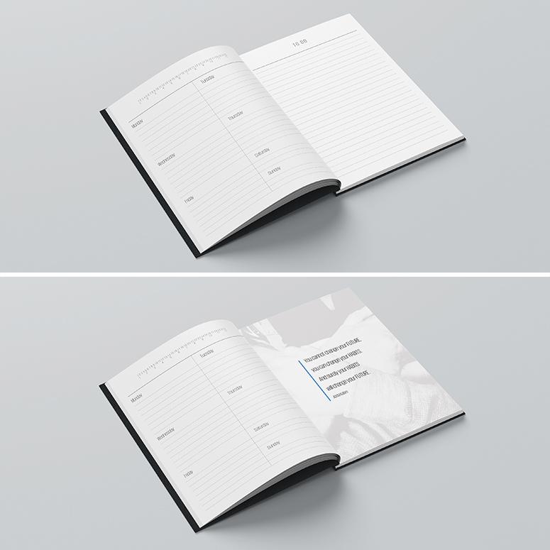 έκδοση (εκτύπωση offset και βιβλιοδεσία) ημερολογίων ή σημειωματάριων με ειδικό σχεδιασμό