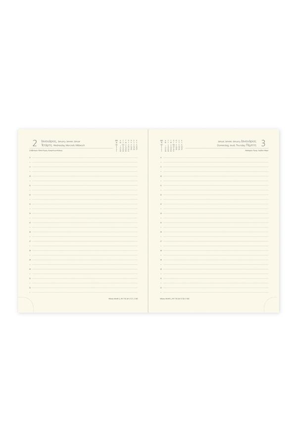 ημερήσιο ημερολόγιο 2019 με υποκίτρινο χαρτί 14Χ21 & 17Χ25