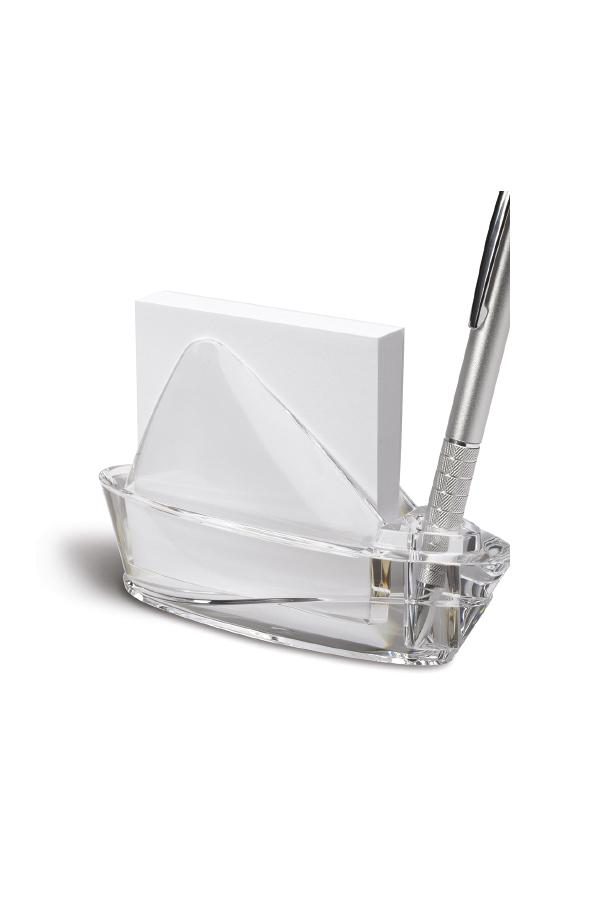 μεταλλικός χαρτοκόπτης γραφείου με θήκη για συνδετήρες και συσκευασία δώρου.