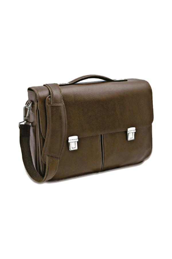 δερμάτινη τσάντα με θήκη laptop και εγγράφων