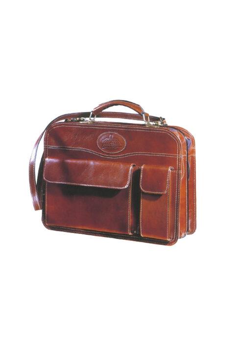 δερμάτινη τσάντα με θήκη laptop
