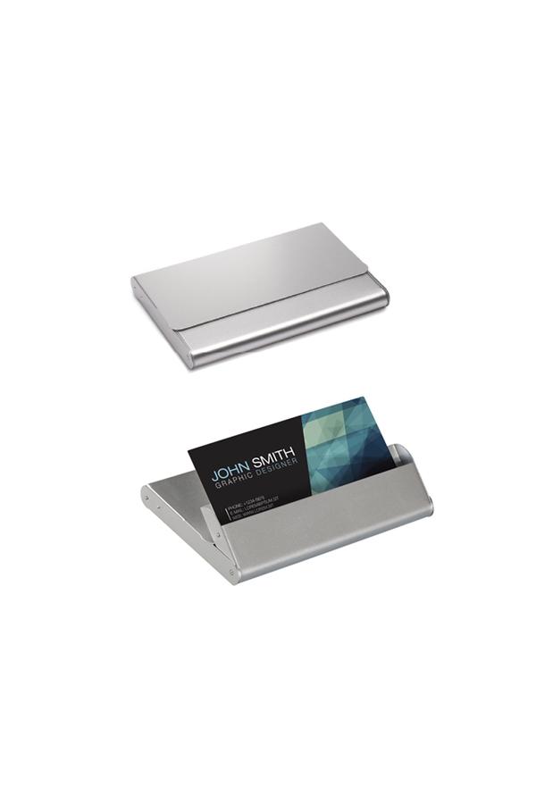 μεταλλική καρτοθήκη, βάση γραφείου για κάρτες με εκτύπωση