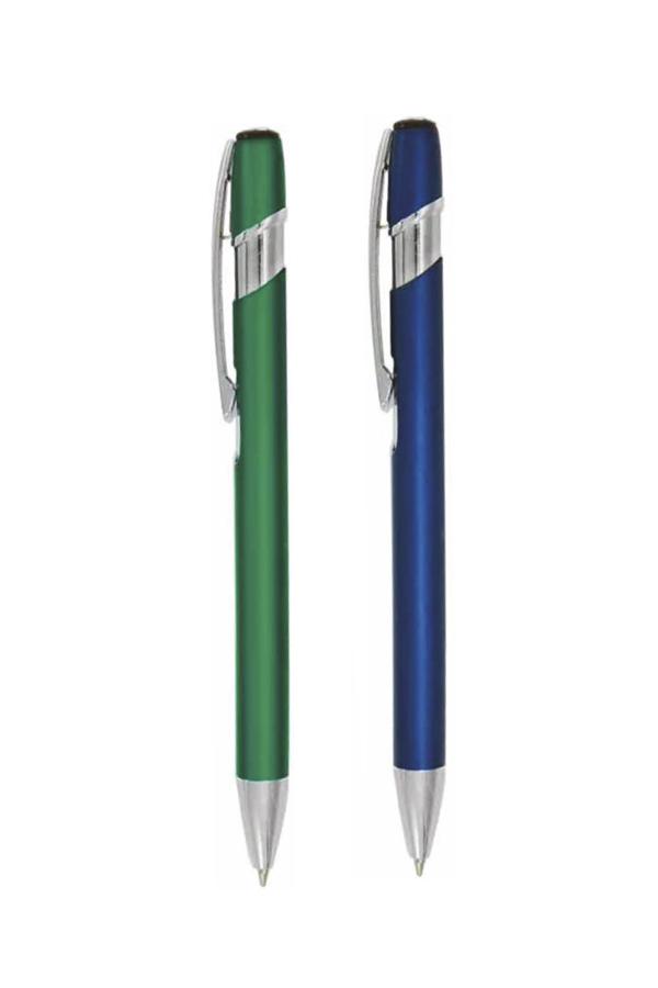 στυλό με ελατήριο από λακαριστό μέταλλο, λεπτομέρειες από αλουμίνιο, σε 4 χρώματα