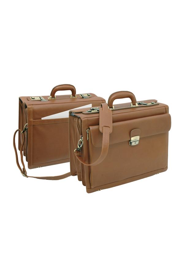 δερμάτινη τσάντα με θήκη laptop και κλειδαριά σφαλείας