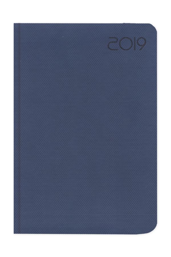 ημερολόγιο 2019 με πικέ ανάγλυφη υφή κόκκινο, πράσινο, μπλε σε προσφορά, σκληρό εξώφυλλο με πυρογραφία, κλασσική βιβλιοδεσία με στρογγυλεμένες γωνίες