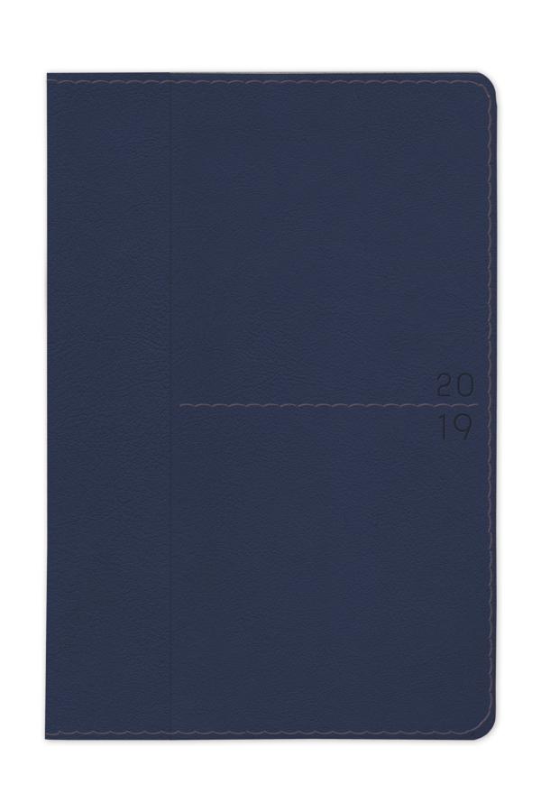 ημερολόγιο 2019 με εύκαμπτο εξώφυλλο, δερμάτινη υφή, ραφή, χειροποίητη βιβλιοδεσία, εξωτερική θήκη καρτών και μικρών εντύπων