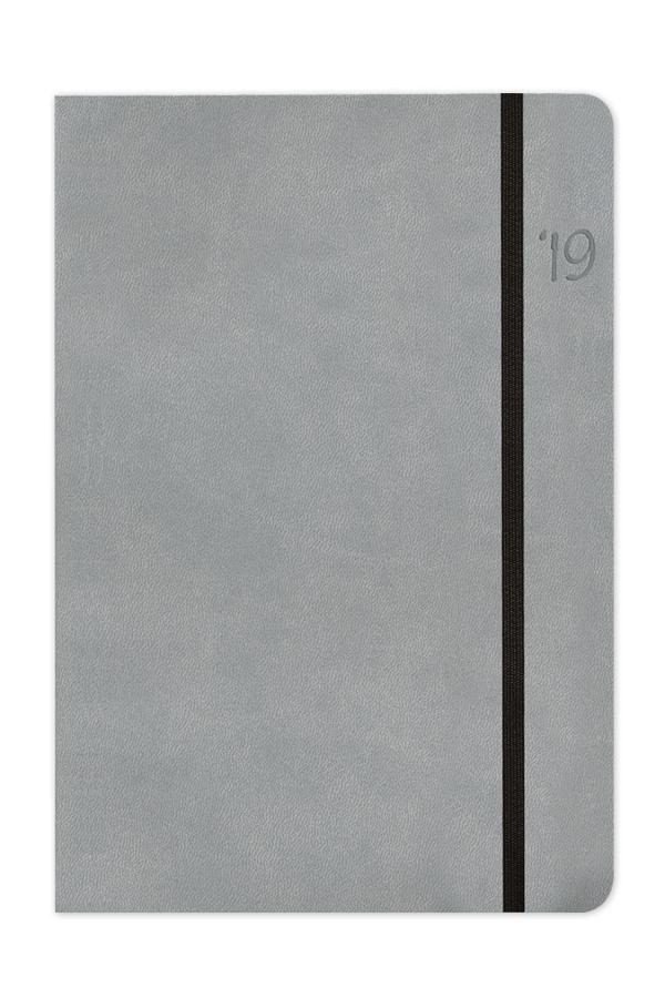 ημερολόγιο 2019 με εύκαμπτο εξώφυλλο, δερμάτινη υφή, λαστιχάκι, χειροποίητη βιβλιοδεσία