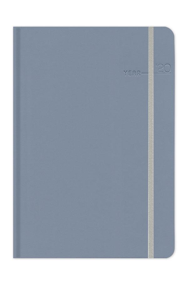 ημερολόγιο 2020 με matte υφή, στρογγυλεμένες γωνίες και λαστιχάκι σε ψυχρά χρώματα