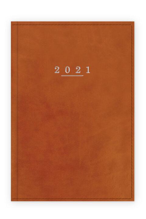 Ημερολόγιο με λεία γυαλιστερή υφή και ραφή.