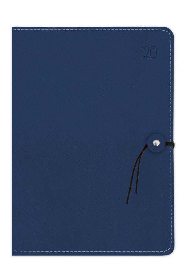 ημερολόγιο 2020 με λεία υφή, χειροποίητη εύκαμπτη βιβλιοδεσία, περιμετρική ραφή και κούμπωμα με κορδονάκι