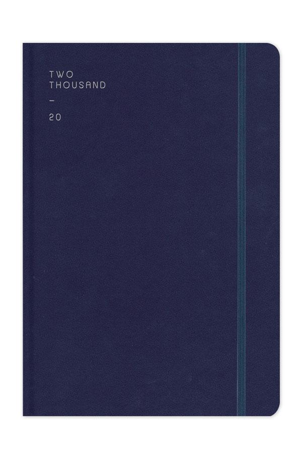 ημερολόγιο 2020 με λεία υφή, στρογγυλεμένες γωνίες και λαστιχάκι