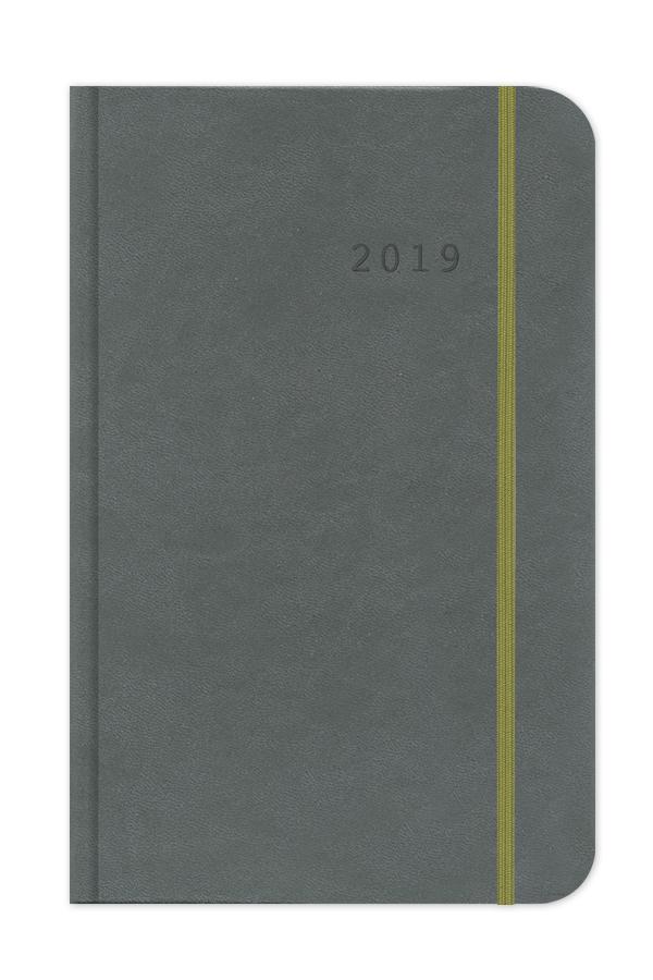 ημερολόγιο 2019 με δερματίνη σε πολλά χρώματα, σκληρό εξώφυλλο και λαστιχάκι, κλασσική βιβλιοδεσία, στρογγυλεμένες γωνίες