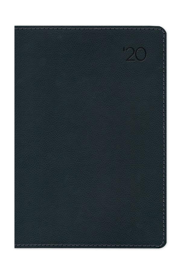 ημερολόγιο 2020 με δερμάτινη υφή, περιμετρική ραφή, εύκαμπτη βιβλιοδεσία και στρογγυλεμένες γωνίες