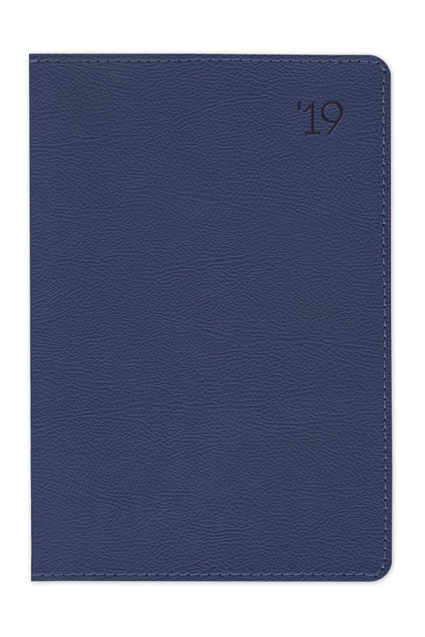 ημερολόγιο 2019 με εύκαμπτο εξώφυλλο, δερμάτινη υφή, ραφή, εύκαμπτη βιβλιοδεσία, στρογγυλεμένες γωνίες