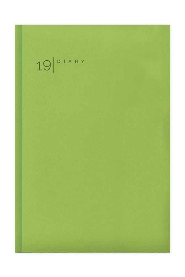 ημερολόγιο 2019 με λεία υφή και έντονα χρώματα σε προσφορά, εξώφυλλο με αφρολέξ έγχρωμη θερμοτυπία, κλασσική βιβλιοδεσία με ορθές γωνίες