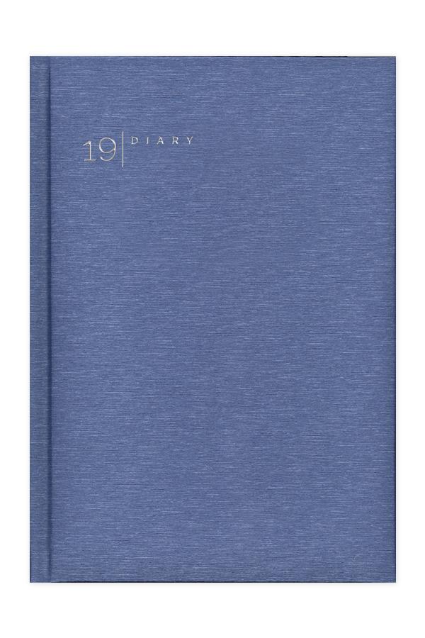 ημερολόγιο 2019 με ιριδίζουσα υφή σε προσφορά, σκλήρο εξώφυλλο με ασημοτυπία, μπλε και κόκκινο, κλασσική βιβλιοδεσία με ορθές γωνίες