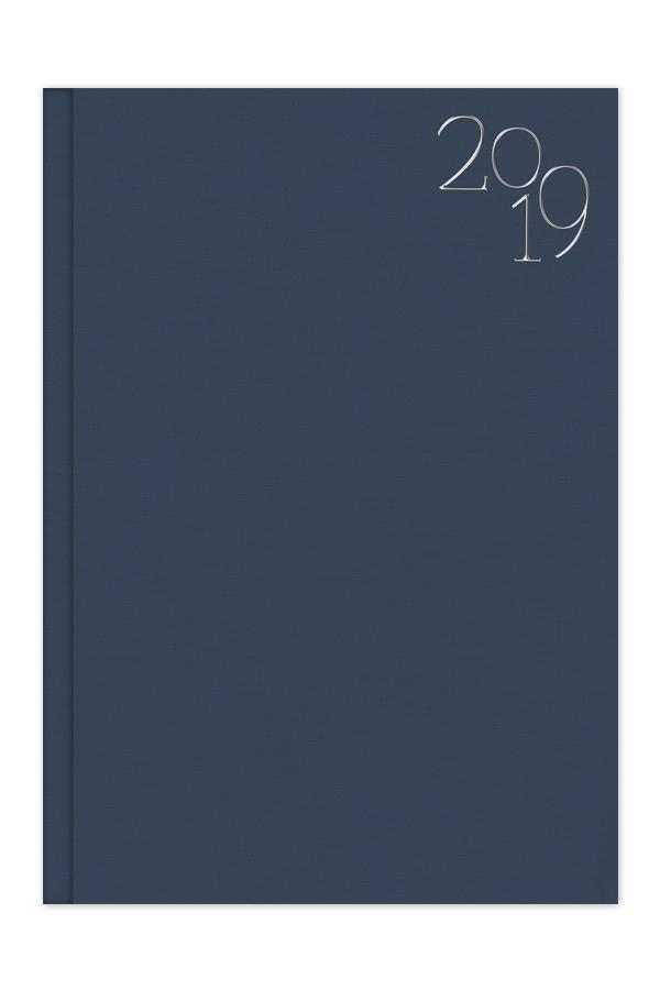 ημερολόγιο 2019 με υφασμάτινη υφή στο εξώφυλλο, κλασσική βιβλιοδεσία