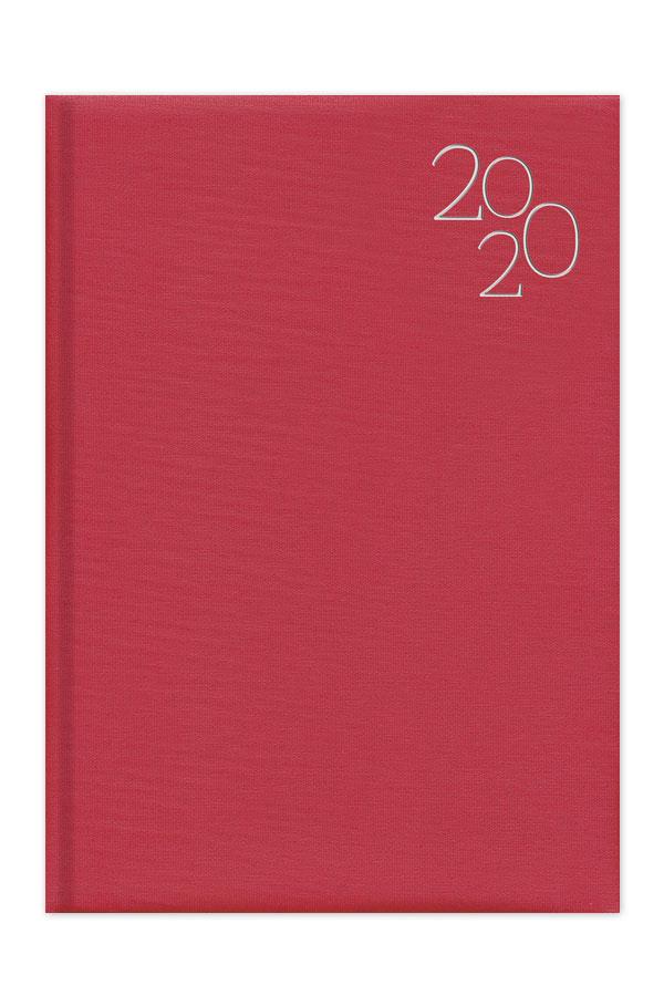 ημερολόγιο 2020 με υφασμάτινη υφή και ασημοτυπία