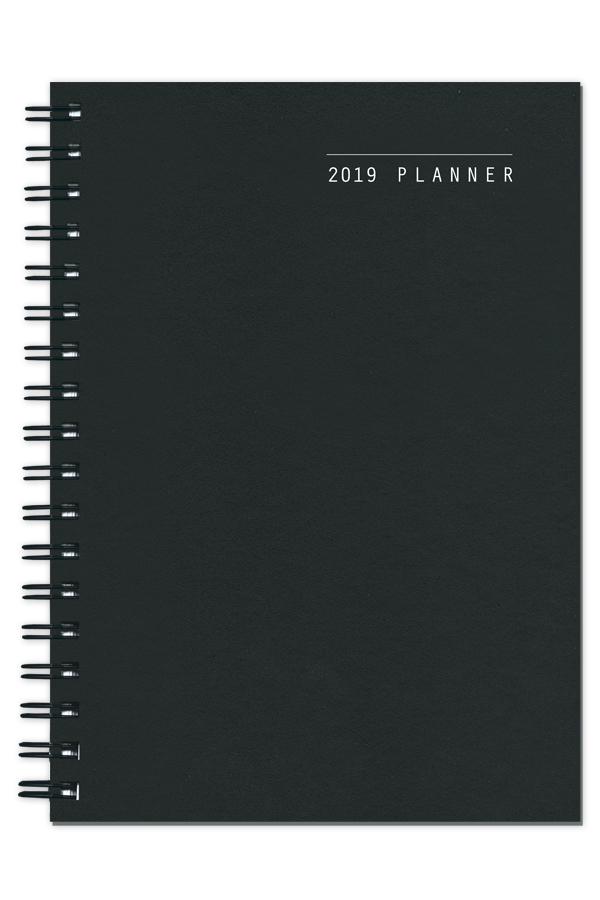 ημερολόγιο 2019 spiral με λείo σκληρό εξώφυλλο, spiral βιβλιοδεσία, ορθές γωνίες