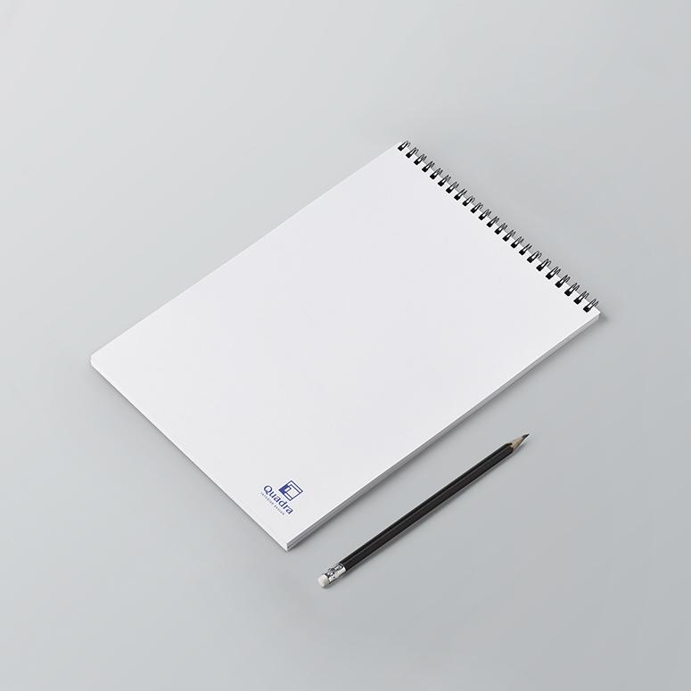 Σελίδες μπλοκ σημειώσεων λευκές, χωρίς γραμμές