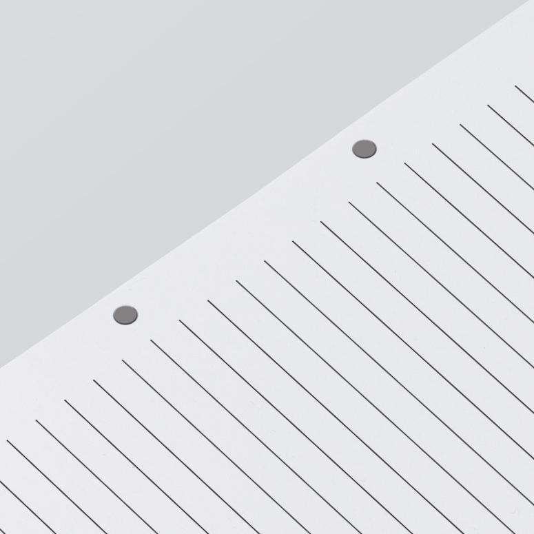 Δυνατότητα εγκοπών των σελίδων του μπλοκ για τοποθέτηση σε ντοσιέ Α4.