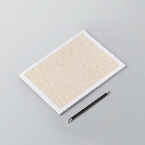Σελίδες μπλοκ σημειώσεων με πλέγμα millimeter