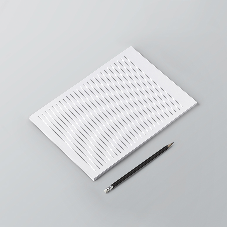 Σελίδες μπλοκ σημειώσεων με γραμμές