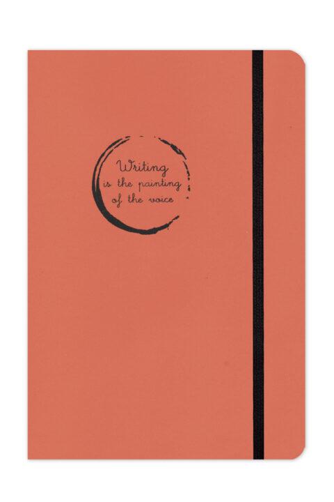 σημειωματάριο με χειροποίητη βιβλιοδεσία με κλωστοραφή, εύκαμπτο, περιστροφή 360 μοίρες, χαρτί υποκίτρινο, σελίδες με πεδίο ημερομηνίας, έντονα χρώματα