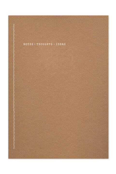 σημειωματάριο με ανακυκλωμένο και χειροποίητο εξώφυλλο, βιβλιοδεσία κλωστοραφή με έκθετη ράχη, περιστροφή 360 μοίρες, χαρτί υποκίτρινο, σελίδες με πεδίο ημερομηνίας