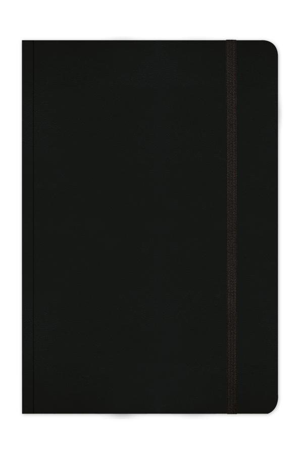 σημειωματάριο με σκληρό εξώφυλλο, με λεία γυαλιστερή υφή, κλασσικές αποχρώσεις και λαστιχάκι, κλασσική βιβλιοδεσία με στρογγυλεμένες γωνίες