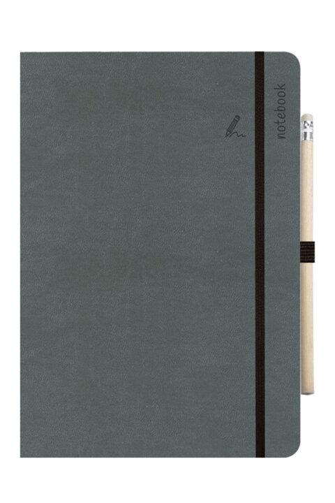 σημειωματάριο με χειροποίητη βιβλιοδεσία, εύκαμπτο, χαρτί λευκό, σελίδες με πεδίο ημερομηνίας, έντονα χρώματα, φάκελος εγγράφων