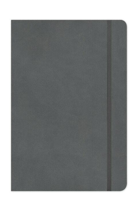 σημειωματάριο με κλασσική βιβλιοδεσία, στρογγυλεμένες γωνίες, χαρτί υποκίτρινο, σελίδες με πεδίο ημερομηνίας,εργονομικό σχεδιασμό και φάκελο εγγράφων