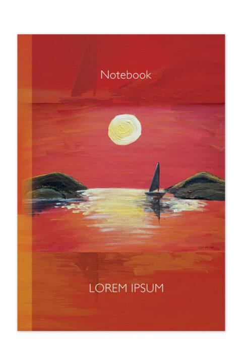 Σημειωματάριο με έγχρωμο σκληρό εξώφυλλο και ειδικό σχεδιασμό.