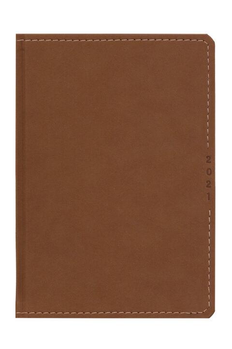 ημερολόγιο 2021 με σουέτ υφή, ραφή και σκληρό εξώφυλλο, κλασσική βιβλιοδεσία με στρογγυλεμένες γωνίες,