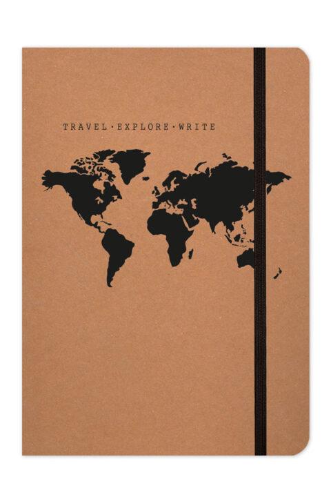 σημειωματάριο ταξιδίου οικολογικό με λαστιχάκι και φάκελο