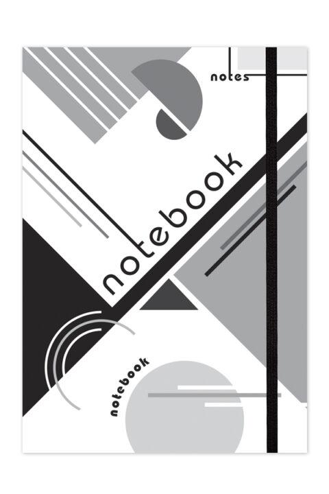σημειωματάριο σχεδίου με τελείες εύκαμπτο με εργαλεία σχεδιασμού