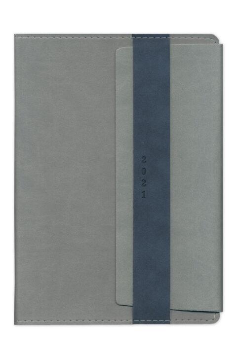 Ημερολόγιο με δερμάτινη λεία υφή κλείσιμο βιβλίου σαν φάκελος. Χειροποίητη βιβλιοδεσία.