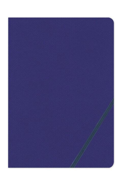 σημειωματάριο με διαγώνιο λαστιχάκι